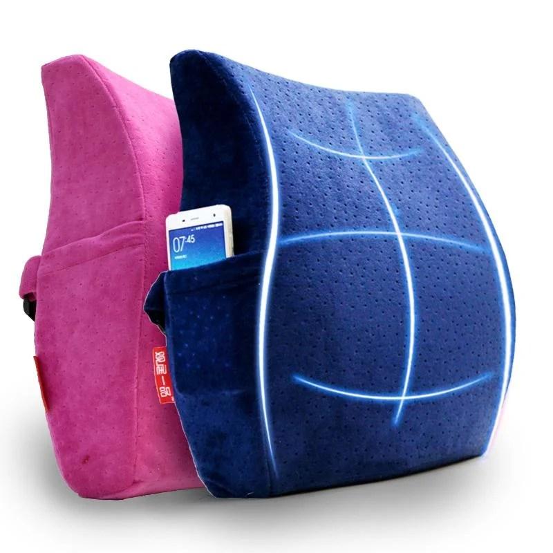 久坐不累的秘密 人體工學設計 護腰靠墊 靠枕 記憶棉腰墊 大汽車護墊 加厚款 - 露天拍賣