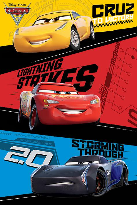 【英國進口電影海報】汽車總動員 Cars 3:閃電再起 Cars 3 (Trio) #PP34145 - 露天拍賣