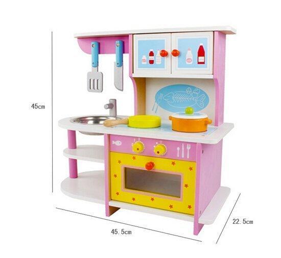 兒童仿真粉色木製廚房組 煤氣灶臺附有烤箱組 扮家家酒 玩具 迷你廚房 新品上市 現貨特價$880 - 露天拍賣