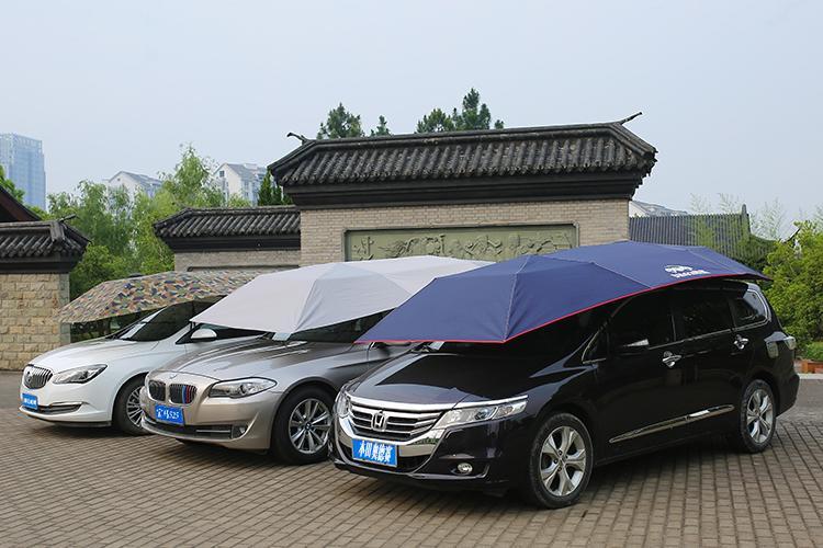 汽車防曬遮陽傘(半自動) - 露天拍賣