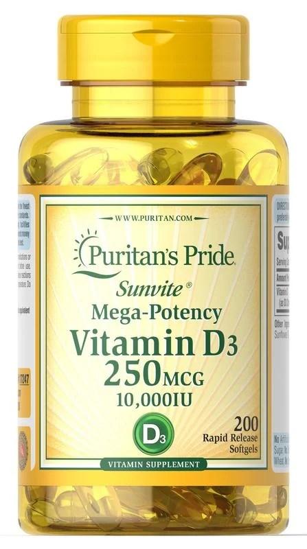 [良品屋] 現貨 Puritan's Pride 維生素 D3 維他命 D3 10000 IU 200顆 軟膠囊 - 露天拍賣