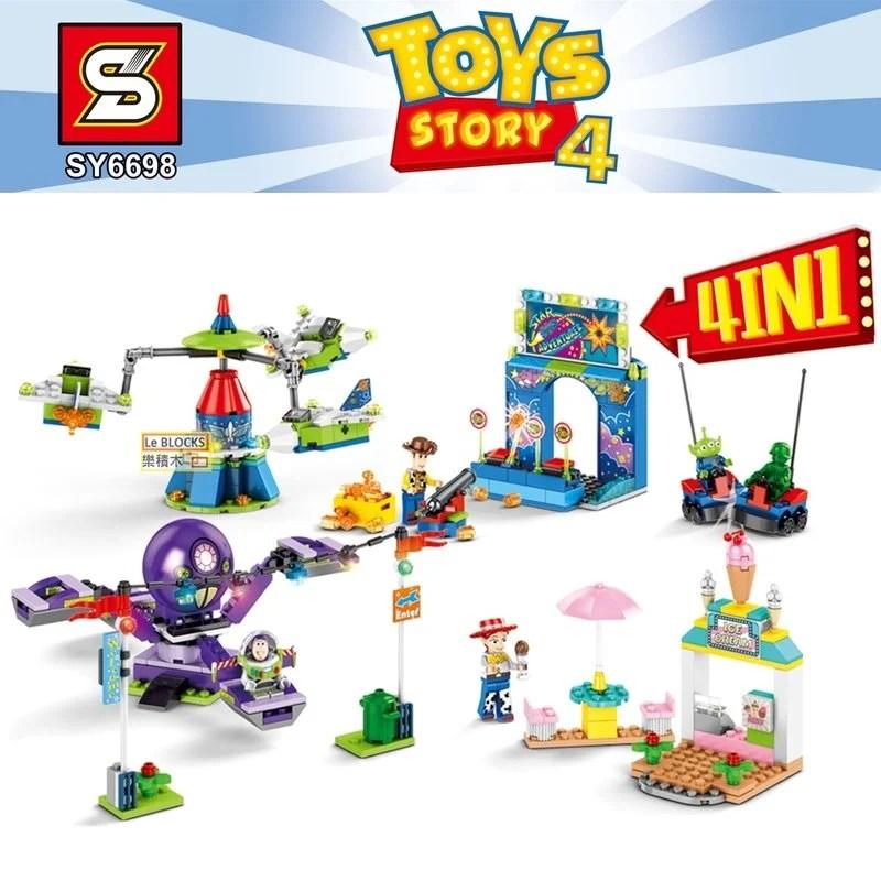 樂積木【當日出貨】S牌 玩具總動員 四款一組 非樂高LEGO相容 積木 巴斯光年 樂園 SY6698 - 露天拍賣