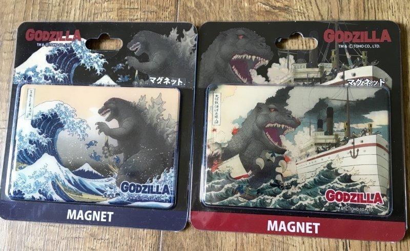 [PSYCHOMANIA] 哥吉拉 GODZILLA 富嶽三十六景 浮世繪 葛飾北齋 大型 磁鐵 - 露天拍賣