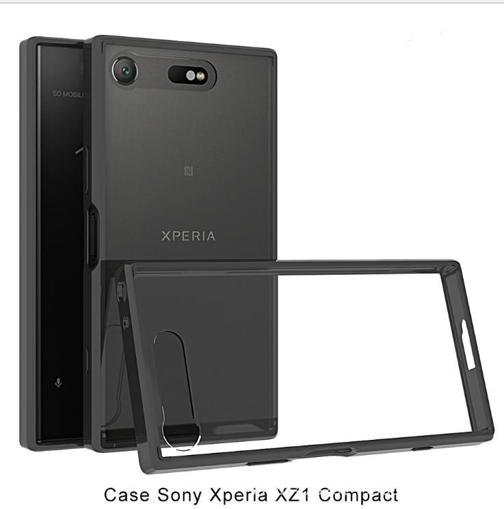 索尼Xperia XZ1 Compact (4.6吋) 晶透亞克力 TPU邊框歐美熱銷防摔透明殼 - 露天拍賣