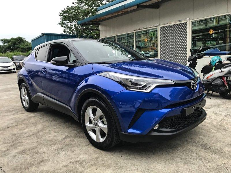 2017 Toyota C-HR CHR 寶石藍 1200cc超省稅 限量超稀有 里程僅跑60km - 露天拍賣