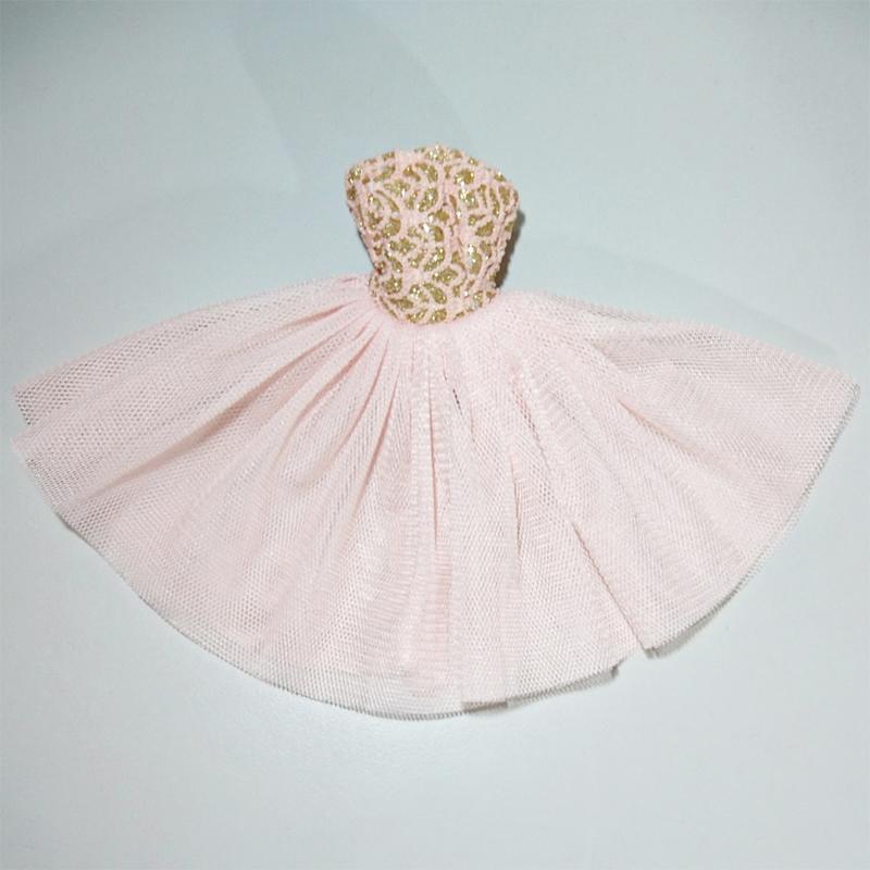 1/6娃 芭比珍妮可兒娃娃可穿 訂製款衣服 芭蕾舞風無肩洋裝-淺粉 - 露天拍賣