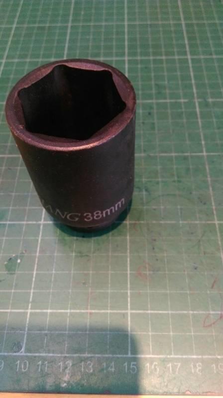 拆洗衣機 內筒螺帽 38mm 一邊是4分套筒另一邊是38mm套筒 清潔 清洗 4分長套筒-38mm洗衣機拆內桶清洗髒污   露天拍賣