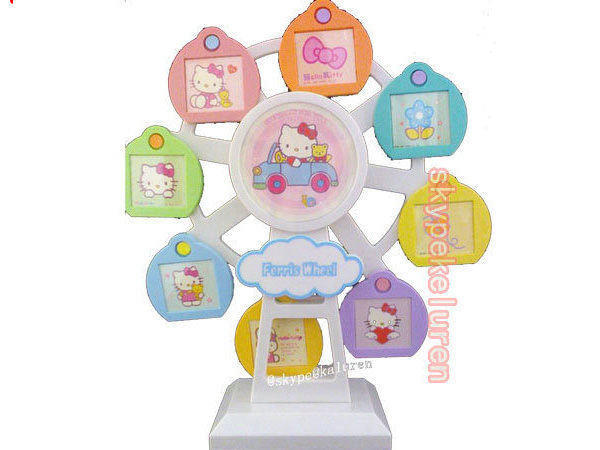 卡通風車旋轉夢幻摩天輪KT相架音樂盒 兒童寶寶相架大頭貼 大頭貼相框 - 露天拍賣