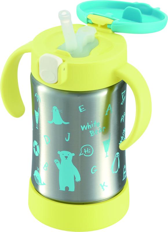 快樂寶貝 日本 Richell 利其爾 艾登熊/薇拉兔 不鏽鋼吸管保溫杯 300ml 風行日本 在臺限量上市 | 露天拍賣
