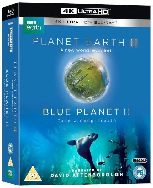 毛毛小舖--藍光BD 地球脈動2 + 藍色星球2 4K UHD+BD 10碟限定套裝版 BBC - 露天拍賣