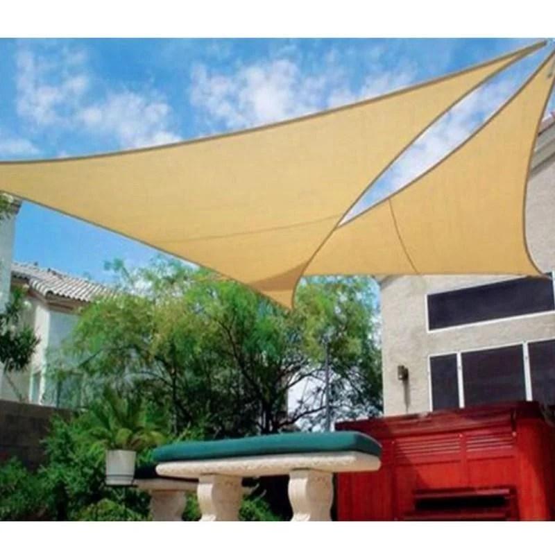 戶外三角防水遮陽布 3*3*3M 米黃 - 露天拍賣