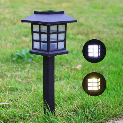 太陽能燈 七彩草坪燈 LED房子燈 地插庭院燈 迷妳戶外防水花園景觀燈 - 露天拍賣