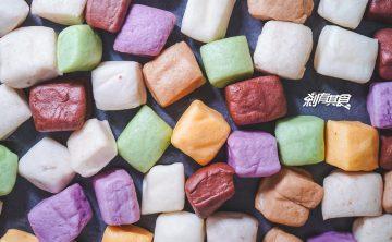 盧大爸彩色小饅頭   台中豐原美食 豐東黃昏市場14年老店 8種顏色純手工製作