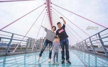 台中大坑情人橋 | 台中大坑景點 粉紅色的熱門約會拍照景點