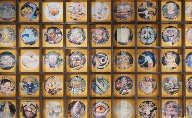 妖怪天井畫-鳥取圓流院-鬼太郎之父「水木茂」老師親手繪製