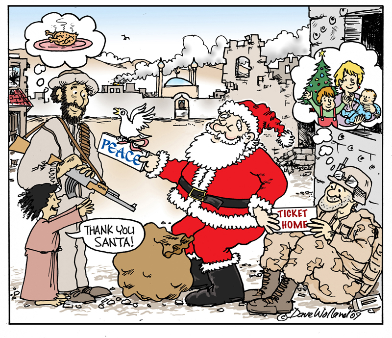 Dave Wolland Cartoon Christmas Wishes Scoop News