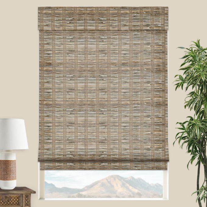 stores en bambou bois tisse de luxe plus