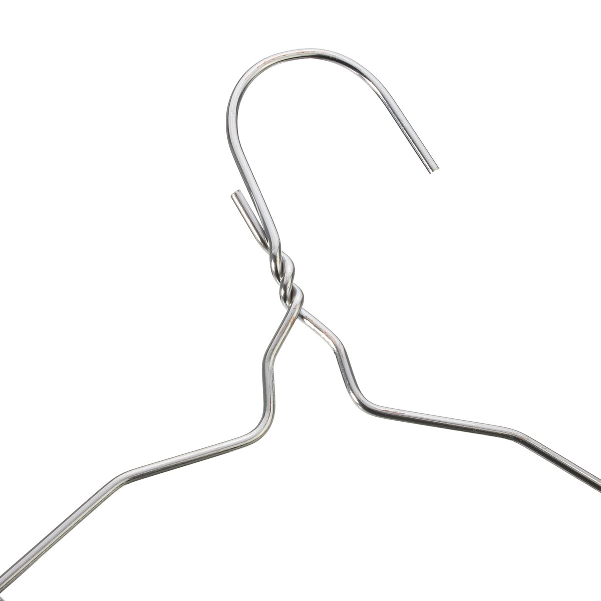 10pcs Silver Stainless Steel 40cm Metal Wire Hangers
