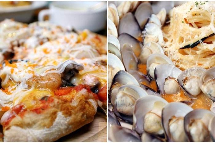 諾諾索 系金A!蛤蠣比義大利麵還多! 滿滿蝦子干貝新品披薩限量上市 中友百貨周邊美食