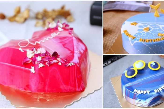P&J法式鏡面蛋糕 愛心、海洋、星空都變成生日蛋糕 超夢幻!