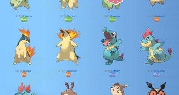 Pokemon GO 寶可夢二代終於開放  80隻可愛新怪和新功能一齊登場 寶可夢二代圖鑑