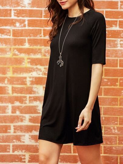 Black Half Sleeve Casual Dress pictures