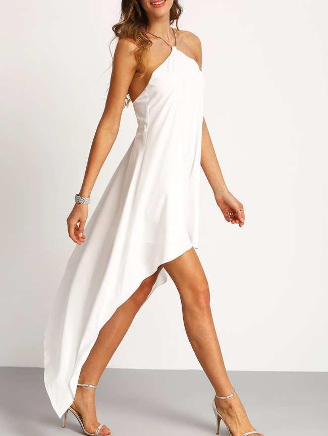 SheIn Chain Halter Neck Asymmectric Dress