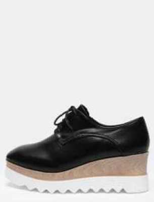 Black Casual PU Flats