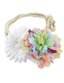 Simple Adjustable Colorful Braided Rope Flower Fashion Waist Belt