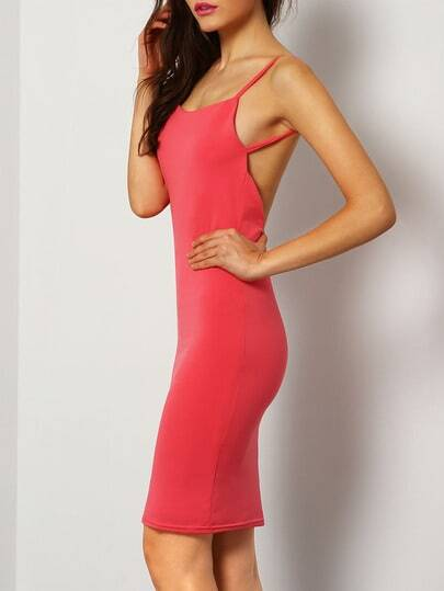 vestido tirantes tubo sin espalda-rojo fotos