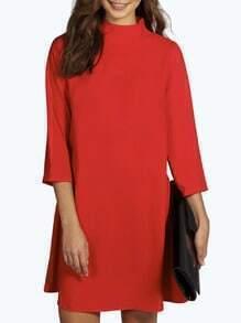 Vestido cuello mao suelto -rojo