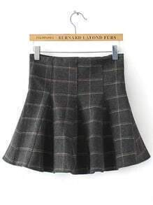 Colour Plaid Ruffle Skirt