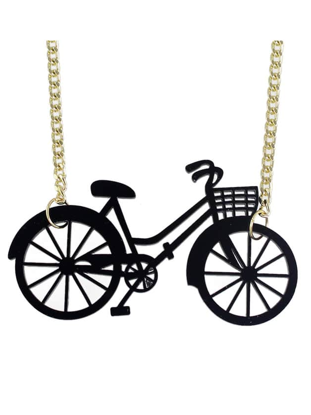 SheIn New Cute Vivid Bike Shape Pendant Necklace