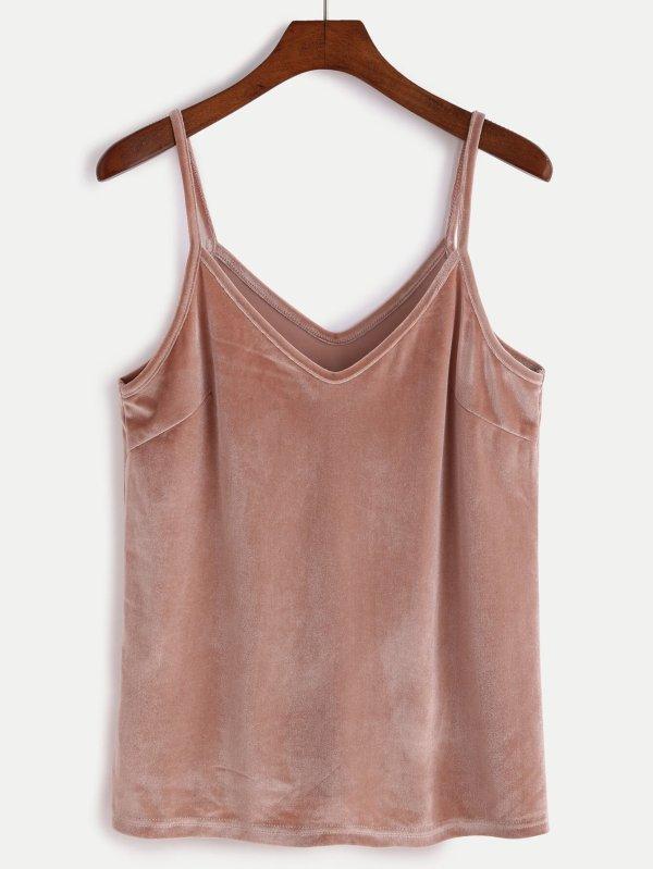 Prendas Terciopelo Tendencia 2017 look outfit top beige marrón