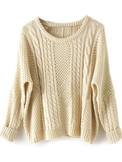 Apricot Batwing Long Sleeve Supersoft Pullovers Sweater pictures