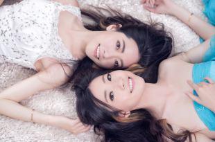 【閨蜜婚紗攝影】雙人攝影棚拍日系婚紗寫真
