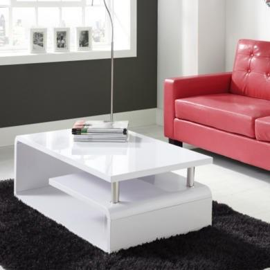 white high gloss coffee table artemis range