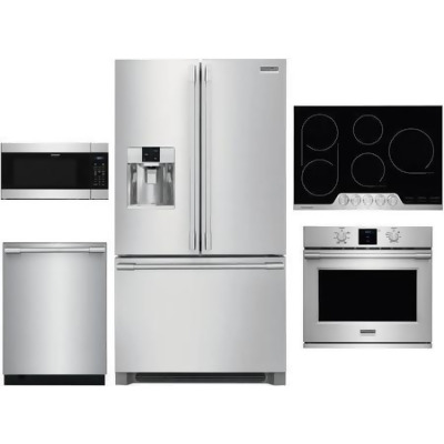 5 Piece Kitchen Appliances Package with 36