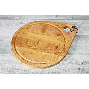 橡膠木水滴型托盤砧板_H7490-29