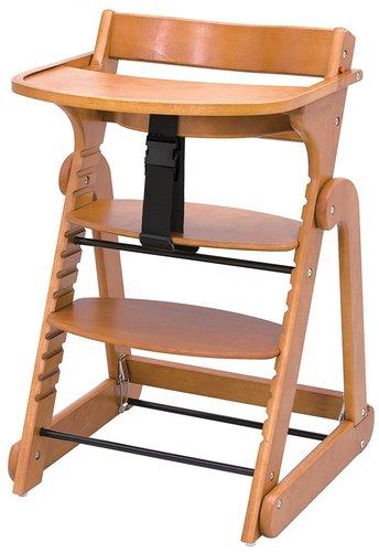 日本育兒可摺式成長型木製餐椅