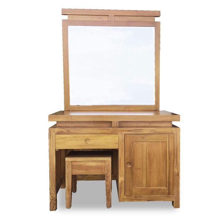 印尼柚木鏡臺組/化妝桌椅組 詩肯風