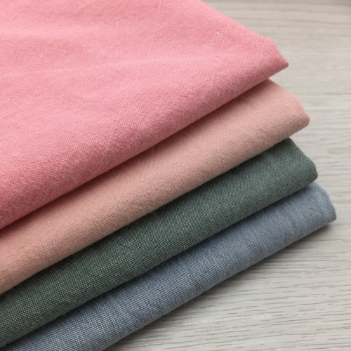 5190 MUJI風水洗棉布料先染純棉/親膚柔軟/床品服飾/幅寬245