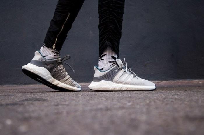 Adidas EQT Support 93/17 男鞋 白灰 Boost底 運動鞋 愛迪達 CQ2395