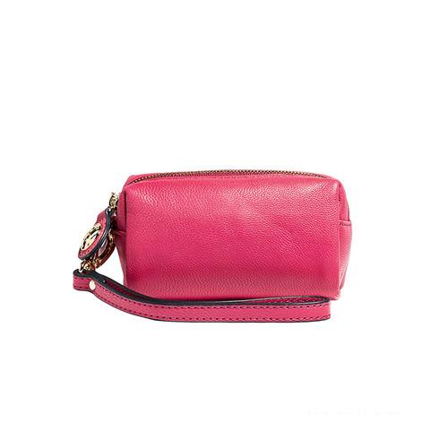 PEPPER'S 胡椒包 Olivia 羊皮雙拉鍊零錢包 - 蜜桃紅