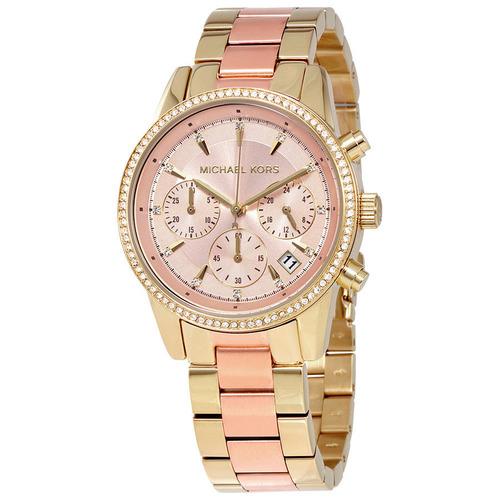 Michael Kors 點綴圓潤腕錶 不鏽鋼錶帶 美國代購正品真貨MK手錶 MK6475