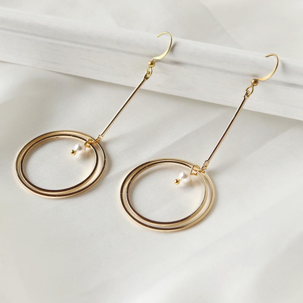 立體圈圈耳環(大)•耳環