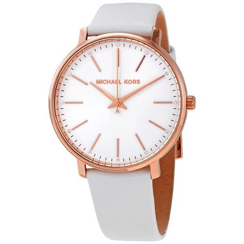 Michael Kors 簡約素面腕錶 真皮錶帶 正品真貨MK手錶 MK2800