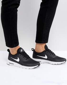 Nike Air Max Thea Trainers In Black And White