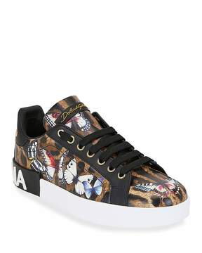 Dolce and Gabbana Leopard Trainers