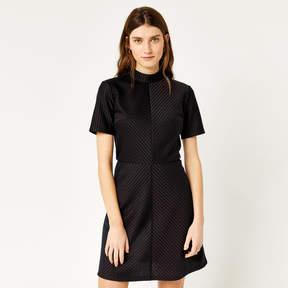 Pinstripe Ponte Shift Dress